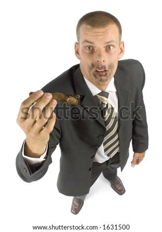 joke - explosion cigar - stock photo