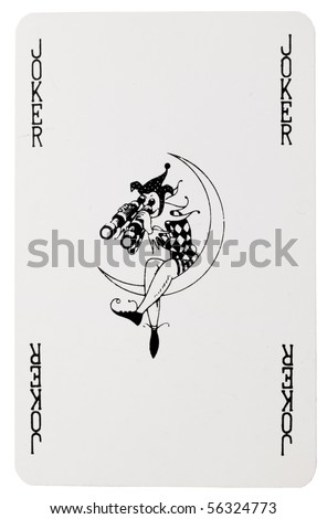 joker card - stock photo