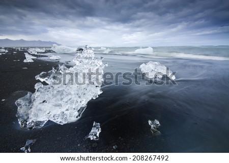 Jokulsarlon, Iceland. / Icebergs. - stock photo