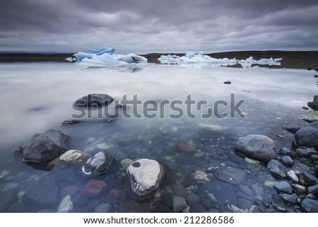 Jokulsarlon, Iceland. / Jokulsarlon - stock photo