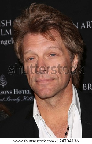 Jon Bon Jovi at the BAFTA Los Angeles 2013 Awards Season Tea Party, Four Seasons Hotel, Los Angeles, CA 01-12-13 - stock photo