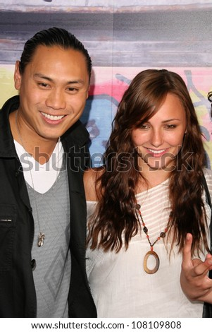 "Jon Chu and Briana Evigan  at the DVD Release Party for ""Step Up 2 The Streets"". Avalon, Hollywood, CA. 07-14-08"