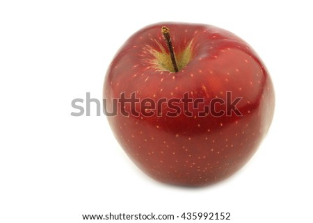 jonagold apple on a white background - stock photo