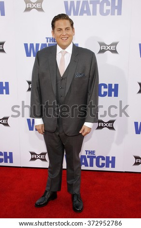 "Jonah Hill at the Los Angeles premiere of ""The Watch"" held at the Grauman's Chinese Theatre in Los Angeles, California, United States on July 23, 2012.  - stock photo"