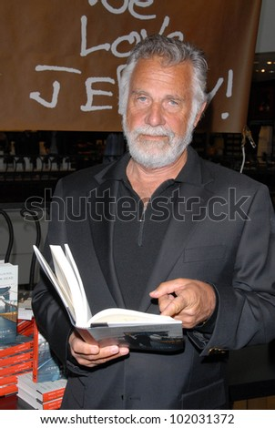 "Jonathan Goldsmith at a celebration of Jerry Weintraub's New Book ""When I Stop Talking You'll Know I'm Dead,"" Barney's New  York, Beverly Hills, CA. 05-18-10 - stock photo"