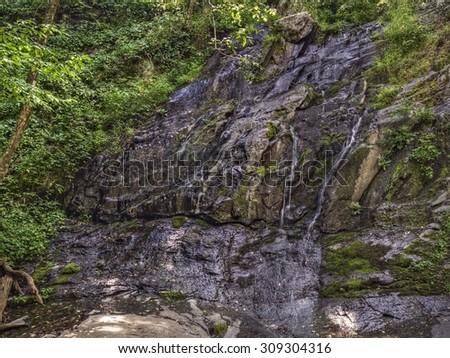 Jones Run Falls, Shenandoah National Park-Virginia, USA. - stock photo
