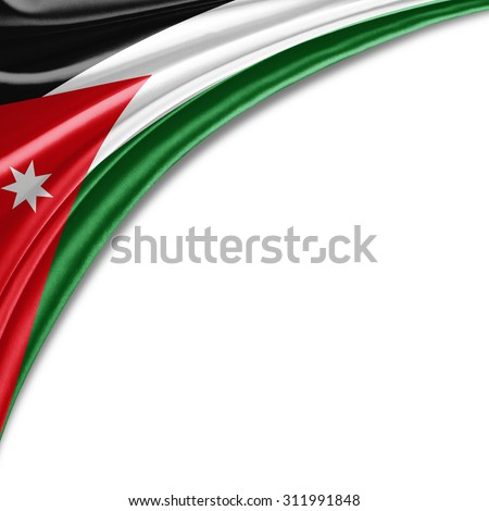 Jordan Flag Silk Copyspace Your Text Stock Illustration 311991848