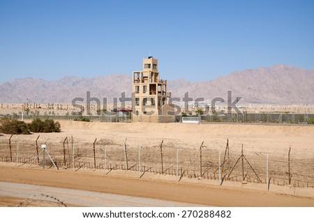 Jordan - Israel borders - stock photo