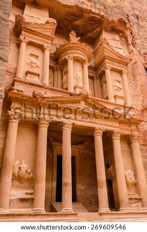 Jordan, Petra. Treasury  - stock photo