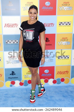 Jordin Sparks at the Variety's 6th Annual Power Of Youth held at the Paramount Studios in Hollywood on September 15, 2012.  - stock photo