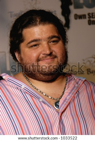Jorge Garcia star of the hit NBC TV show LOST. Filmed on location in Hawaii. - stock photo