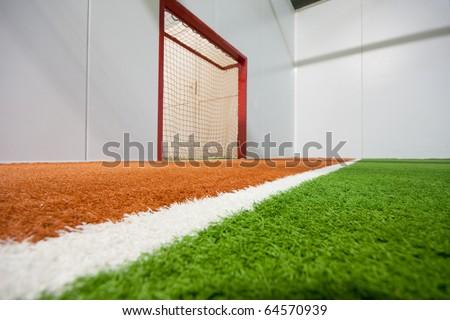 Jorky ball field with gate - stock photo