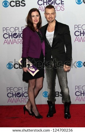 Joseph Lawrence at the 2013 People's Choice Awards Arrivals, Nokia Theater, Los Angeles, CA 01-09-13 - stock photo