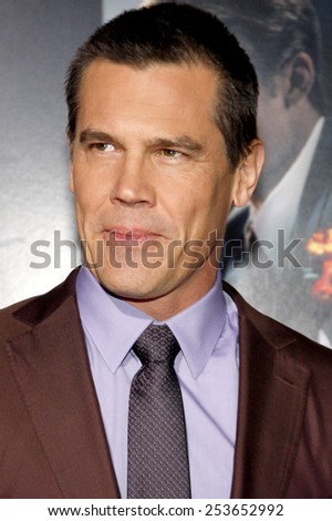 "Josh Brolin at the Los Angeles premiere of ""Gangster Squad"" held at the Grauman's Chinese Theatre in Los Angeles, California, United States on January 7, 2013. - stock photo"