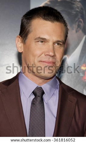 "Josh Brolin at the Los Angeles premiere of ""Gangster Squad"" held at the Grauman's Chinese Theatre, Los Angeles, USA on January 7, 2013.  - stock photo"