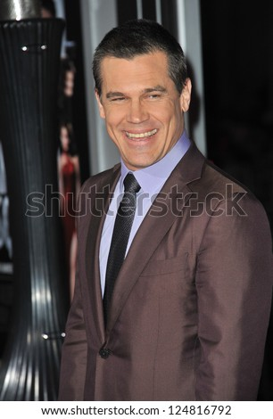 "Josh Brolin at the world premiere of his movie ""Gangster Squad"" at Grauman's Chinese Theatre, Hollywood. January 7, 2013  Los Angeles, CA Picture: Paul Smith"