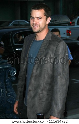 "Joshua Jackson at the Los Angeles premiere of ""Sicko"". Academy of Motion Picture Arts & Sciences, Beverly Hills, CA. 06-26-07"