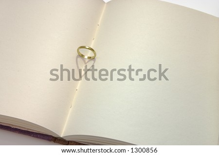 Journal with wedding ring