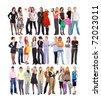 Joy Team Diversity - stock photo