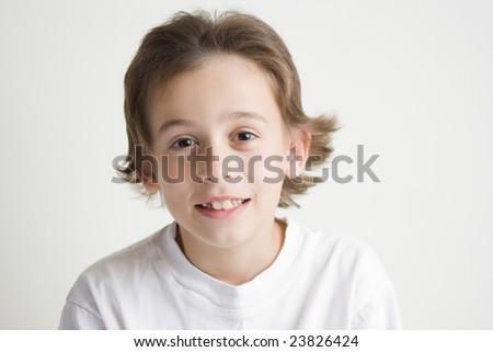 joyful boy - stock photo