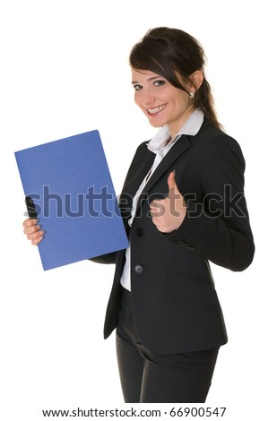 Joyful businesswoman. - stock photo