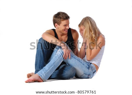 Joyful couple - stock photo