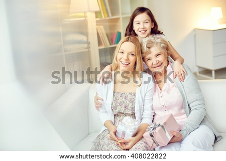 Joyful females - stock photo