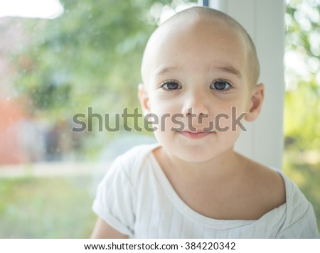Joyfull little one is happy and excited. Closeup headshot - stock photo