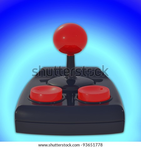 joystick 3d - stock photo