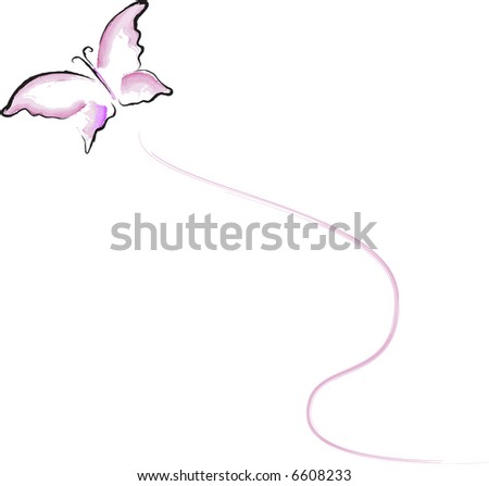 JPEG Butterfly in Flight - stock photo