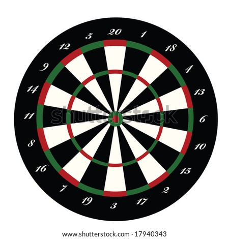 Jpeg illustration of a dartboard. For vector version, please see my portfolio.