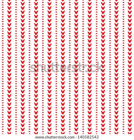 JPEG seamless background pattern with red ornamental stripes. Use for Christmas, Greeting Cards, Gift Wrap, Scrapbook, Surface Textures. See my portfolio for matching patterns and for vector version. - stock photo