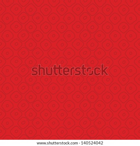 JPEG seamless background pattern with subtle red circles. Good for Christmas, Greeting Cards, Gift Wrap, Scrapbook, Surface Textures. See my portfolio for matching patterns and for vector version. - stock photo