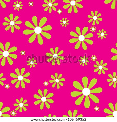 JPEG seamless vintage daisy background pattern. Suitable for textiles, scrap-booking, greeting cards, gift wrap, wallpapers. See my portfolio for vector version - set of 4 vector backgrounds. - stock photo