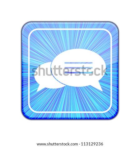 Jpeg version. Bubble speech icon - stock photo