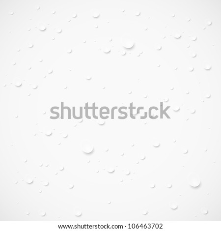jpeg version. drops on gray background - stock photo