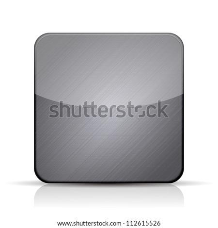 Jpeg version. metal app icon on white background - stock photo