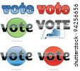Jpeg version of a set of voting icons - stock photo