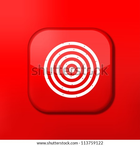 Jpeg version.   red darts icon. - stock photo