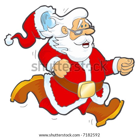 JPEG version. Running Santa