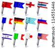 Jpeg version.  the flags of the world isolated on white background - stock photo