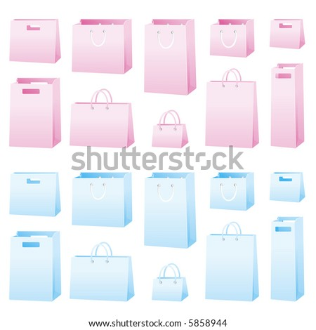 JPEG version. 2x 10 bags in two colors pink and blue.