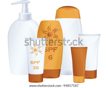 JPG Cosmetic bottles - stock photo