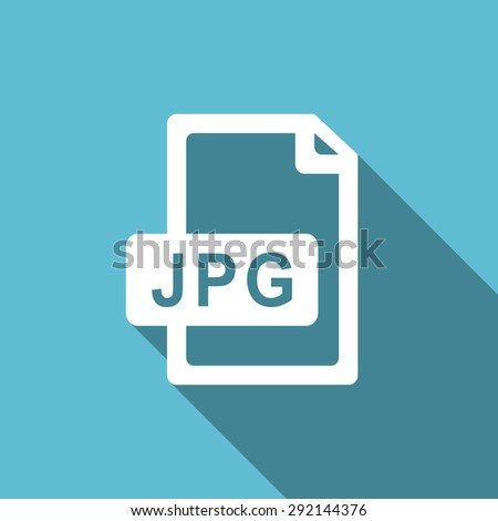 jpg file flat icon  original modern design flat icon for web and mobile app with long shadow  - stock photo