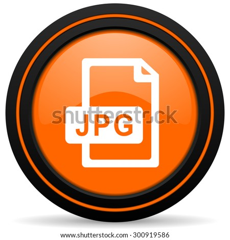 jpg file orange icon   - stock photo