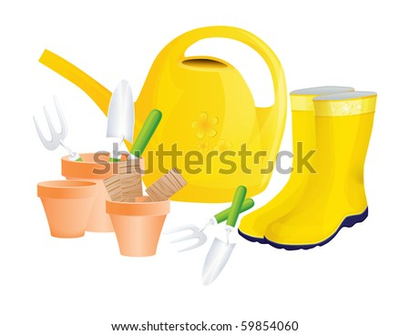 JPG Set of garden tools isolated on white