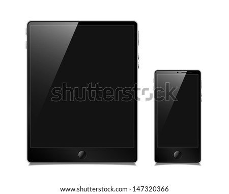 jpg, tablet and smartphone - stock photo