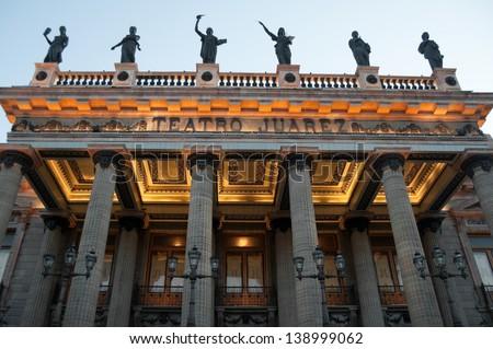 Juarez Theater, Guanajuato (Mexico) - stock photo