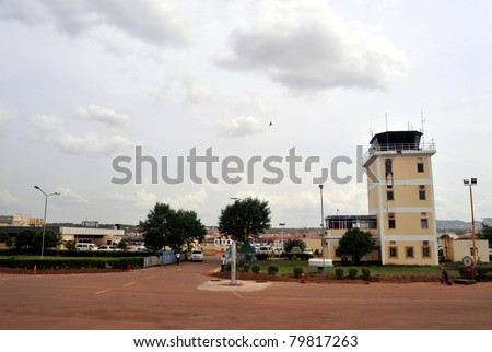 JUBA - JUNE 13: The tarmac is empty at Juba Airport in Juba, capital of South Sudan, on June 13, 2011. Juba will become the country's main airport when South Sudan becomes independent on July 9. - stock photo