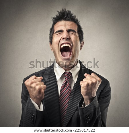 Jubilating man  - stock photo